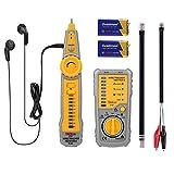 TACKLIFE Tester de Cable, CT01 Comprobador de Cables RJ45 RJ11, Buscador de Líneas Eléctricas, Probador Continuidad de Cable, Clasificación de Cable de Red, Batería Incluida