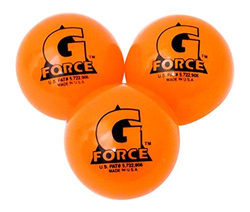 Mylec Warm Weather Liquid Filled G-Force Hockey Balls, (Pack of 3) ORANGE