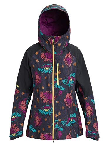 Burton Womens Ak Gore-Tex Upshift Jacket, Bona Flora/True Black, Medium