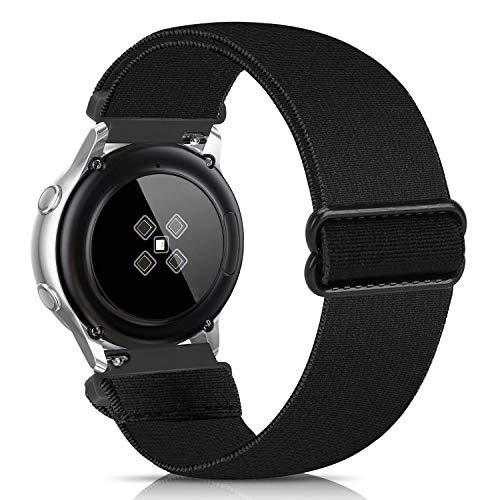 Lourhome - Cinturino di ricambio elastico compatibile con Samsung Galaxy Watch Active 2, Samsung Galaxy Watch 20 mm, cinturino elastico stampato, comodo cinturino in tessuto da donna e uomo