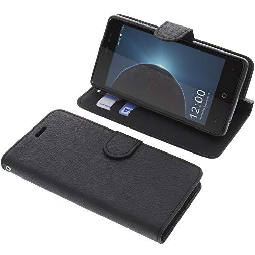 foto-kontor Tasche für Leagoo Z6 Book Style schwarz Schutz Hülle Buch