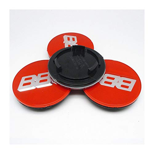 SYWY Tapas para Llantas 4pcs 70mm Compatible con BBS RM RZ RG RS RIZ Rims CUBIERTE CUBIERTE Cover Emblem Cap con Base Cubierta Central (Color : A)