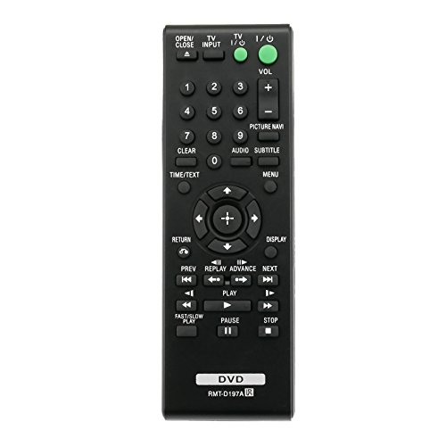 New RMT-D197A RMTD197A Replaced Remote Control fit for Sony DVD Player DVP-SR510H DVP-SR320 DVP-SR405P DVP-SR750HP DVPSR100 DVPSR120 DVPSR210PB DVPSR310P DVPSR320 DVPSR750HP