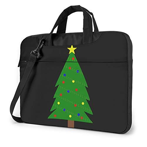 Miwaimao Christmas Tree Llaptop Bag 15.6 Inch Briefcase Shoulder Bag Satchel Tablet Bussiness Carrying Handbag Laptop Sleeve