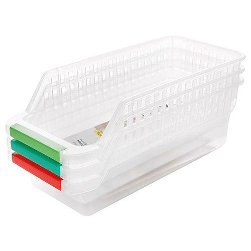 XKMY Cajones para refrigerador, caja de almacenamiento, útil para coleccionar, cocina, nevera, frutas, organizador de rack (color: blanco)