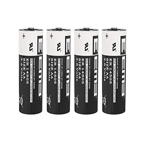 4X EEMB 3,6V AA Pila de Litio ER 14505 LS14500 Cloruro de Tionilo Batería (2600 mAh) para Las máximas exigencias industriales - No Recargable