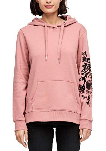 s.Oliver Damen 14.911.41.2796 Sweatshirt, Rot (Rosewood 3784), 40 (Herstellergröße: L)