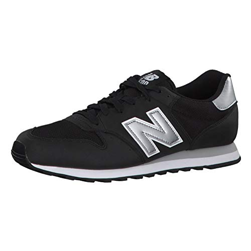 New Balance 500 Core, Baskets Homme, Black/Silver, 40 EU
