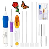 Magic Embroidery Pen, Punch Needle Pen Set for Embroidery Threaders, Adjustable Punch Needle Kit for Embroidery Floss Cross Stitching Beginners