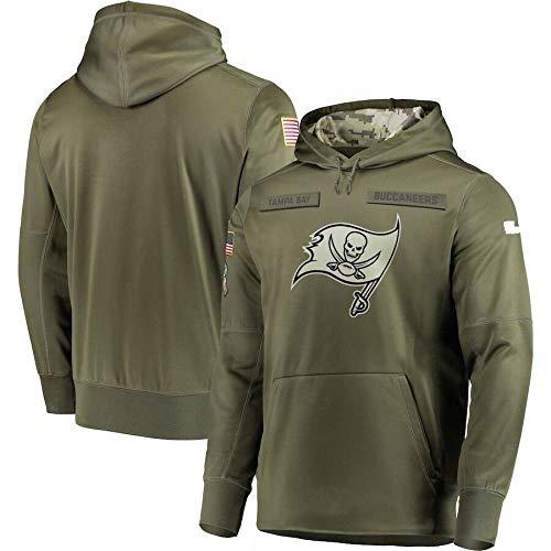 Xyy NFL Jersey Tampa Bay Buccaneers -Lüfter Hoodie, hochwertige Armee grün Bestickt Sweatshirt, American-Football-Trikot NFL Hoodie (Color : Man, Size : M)