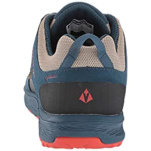 Vasque Women's Breeze LT Low GTX Gore-Tex Waterproof Breathable Hiking Shoe, Blue/Red, 7.5 M US