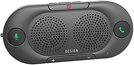 Besign BK06 Bluetooth 5.0 in Car Speakerphone with Visor Clip, Wireless Car Kit for Handsfree Talking, Motion Auto on, Siri Google Assistant Support