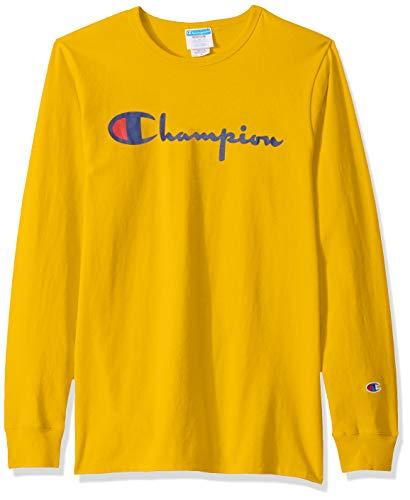 Champion LIFE Men's Heritage Long Sleeve TEE, C Gold, 3X Large