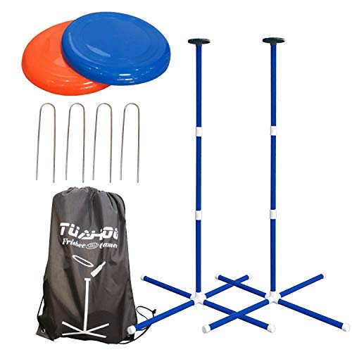 TUAHOO Garden Yard Outdoor Games for Family Adults and Kids Bottle Frisbee Game Disc Toss Throwing Flying Disk Game