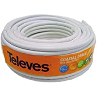 Televes 4355 ROHS Cable (Rollo 20M) COAXIAL TV 75OHM Color Blanco