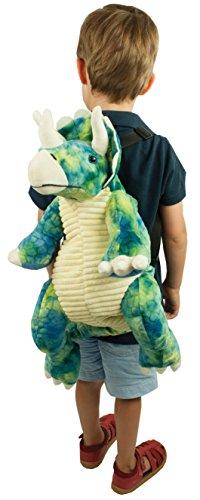 Great Gizmos WY0005NHM Kinderrucksack Triceratops Dinosaurier blau/grün