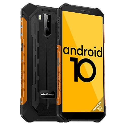 Ulefone Armor X5 Pro Outdoor Handy - Octa-Core 4G Dual-SIM Smartphone ohne Vertrag Android 10 4GB RAM 64GB ROM IP68/IP69K 5,5-Zoll-Bildschirm 5500 mAh Unterstützung für große Akkus (Orange)