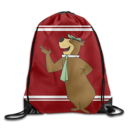 JIMSTRES Yogi Bear Drawstring Backpack Sack Bag/Travel Bag