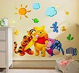 ZooYoo Vinilo O Pegatina Winnie The Pooh 30X60 CM