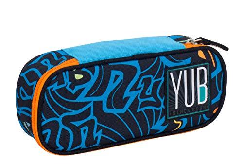Bustina Round Plus YUB Murales Boy, Blu, Organizer interno porta penne