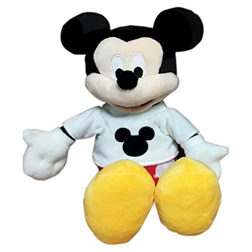 Disney Mickey in White Tee and Red Pant Plush, Multi Color (35cm)