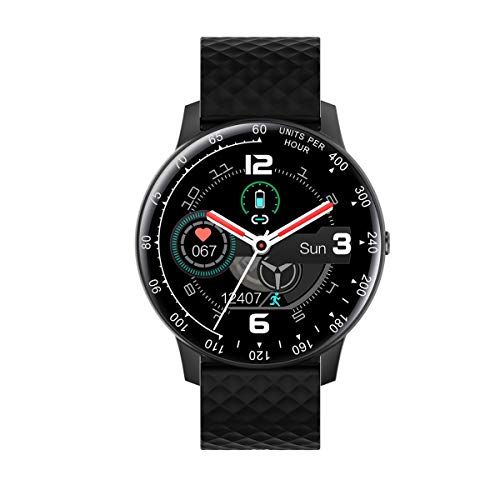 healthwen para H30 Smart Watch Hombres Mujeres DIY Watchfaces Full Touch Fitness Tracker Reloj Inteligente Deportivo para Android para teléfono iOS