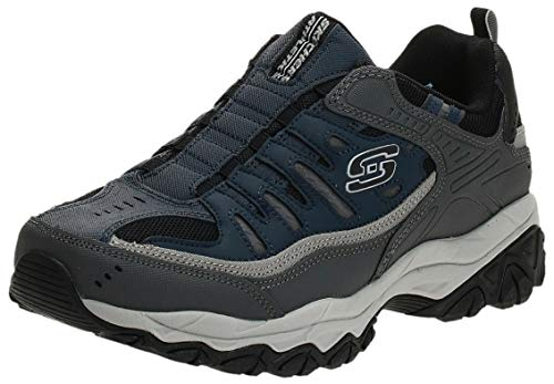 Skechers Sport Men's Afterburn Extra Wide Fit Wonted Loafer,navy/gray,12 4E US