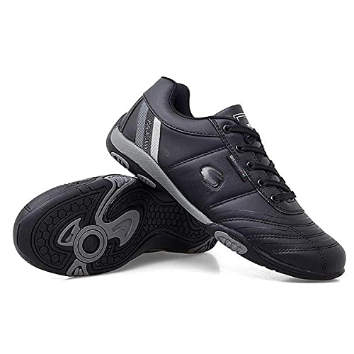 VIIPOO Zapatos De Golf para Hombre, Zapatos De Entrenamiento Impermeables Sin Tachuelas, Transpirables, Antideslizantes, De Ocio, Zapatos Deportivos Al Aire Libre,Black-40EU