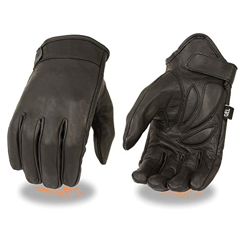 Milwaukee Leather MG7510 Men's Short Wrist Leather Gloves with Gel Palm - Large