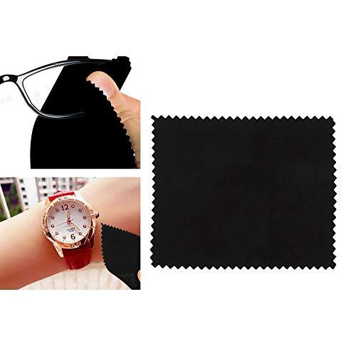 15 stks Horloge Schoonmaken Polijsten Doek, Bril Lens Metalen Sieraden Clean Tool