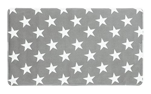 WENKO Wanneneinlage Stella Grau - Antirutsch-Badewannenmatte mit Saugnäpfen, Kunststoff (TPR), 40 x 70 cm, Grau