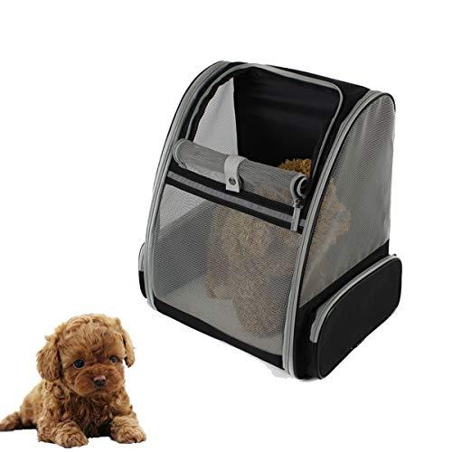 Tineer Pet Cat Backpack Carrier Malla transpirable Cachorro Bolsa de transporte Portador de viaje para perros pequeños o gatos Caminando diariamente