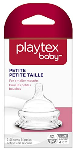 Playtex Baby Petite Slow Flow Nipple for Newborns and Premature Babies, 2 Count