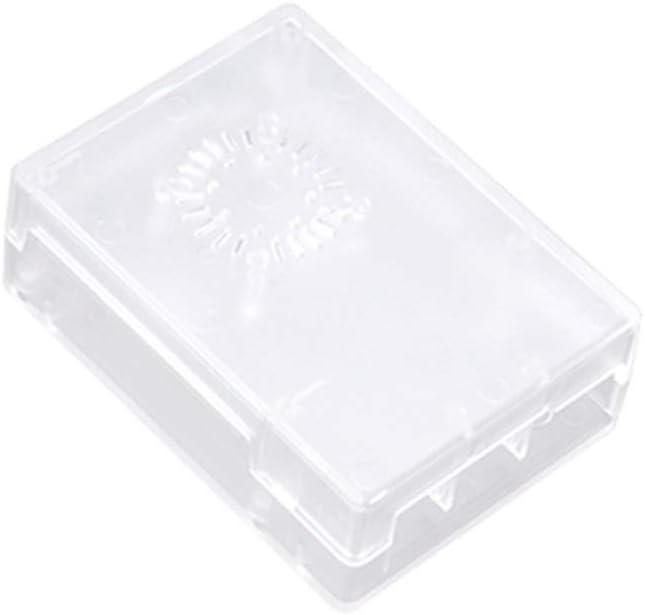 MANMANYU Model B+ ABS Case Black White Transparent Plastic Box Cover Shell Compatible Raspberry Pi 3Model B + Plus Printer Accessories (Color : Black Without Fan)
