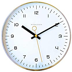 Marksson The Crosby Stainless Steel Wall Clock Silent Non-Ticking Wall Clock, 12 Quartz, Premium Materials, High End Mechanism, Ten Colors (White/Lemon Yellow)