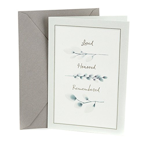 Hallmark Sympathy Card (Loved, Honored, Remembered)