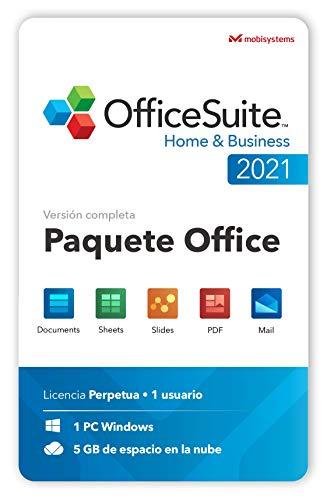 OfficeSuite Home & Business 2021 - Licencia de Por Vida - Documents, Sheets, Slides, PDF, Mail & Calendar para Windows