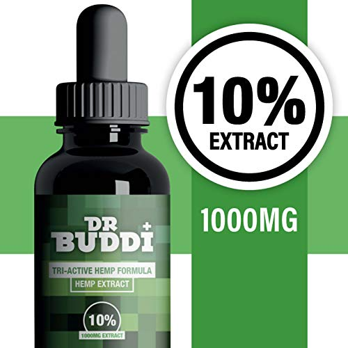 Dr Buddi High Strength Hemp Extract | 10% (1000mg) | 10ml | Anti-inflammatory | Can help Reduce Stress, Anxiety and Pain | Vegan & Vegetarian Friendly | 1 bottle should last up to 2 months
