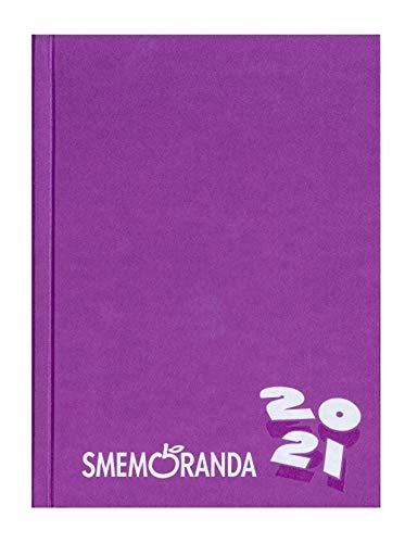 Smemo - Diario 2020/2021 16 Mesi - Viola Logo Bianco - 13x17.7cm