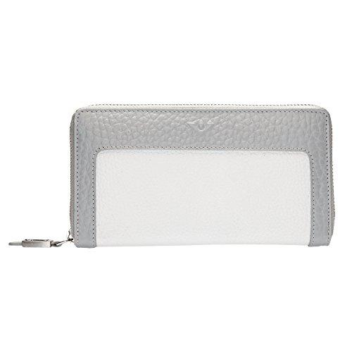 voi leather design Voi Geldbörse, Platin/Weiss, 19x11x3