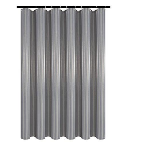 Biscaynebay Textil Duschvorhänge, wasserabweisend, Badezimmer Vorhänge 72X84 Silbergrau