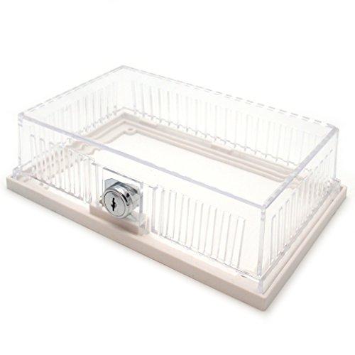 Bramec Corporation - Protector de termostato de plástico transparente, base de anillo sólido, 7-1/16 pulgadas x 4-1/8 pulgadas