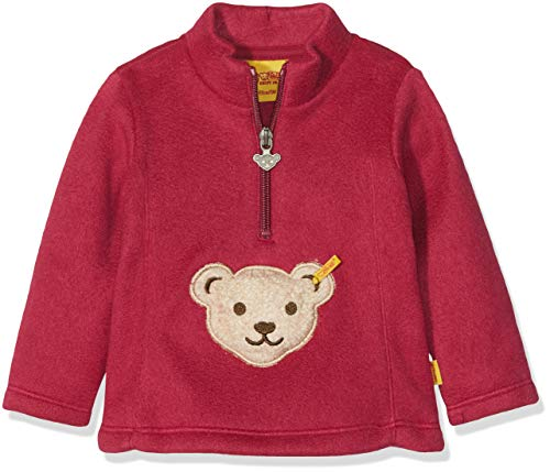 Steiff Baby-Mädchen 1/1 Arm Fleece Sweatshirt, Rot (Anemone|Red 2144), 80