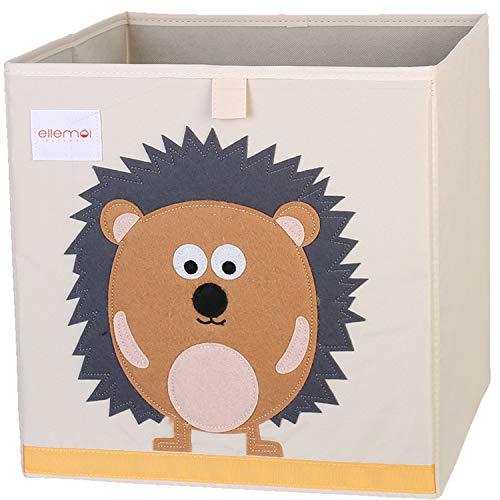 Cartoon Aufbewahrungswürfel Leinwand faltbare Spielzeug Aufbewahrungsbox Kinder von ELLEMOI (Igel)