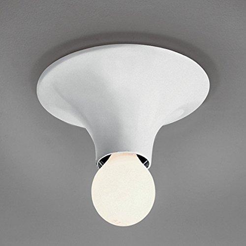 ARTEMIDE halogeen wand-/plafondlamp Teti, Ø14 x D7cm, wit