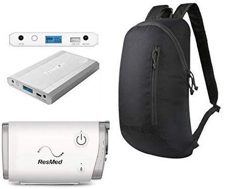 Freedom CPAP Battery Kit for ResMed Air 10, S9 and AirMini Plus Bonus Backpack - New for This Year!