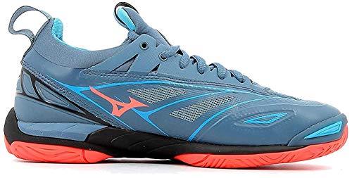 Mizuno Damen Wave Mirage 2.1 Sneakers, Mehrfarbig (Bluemirage/Fierycoral/Bl 001), 40.5 EU