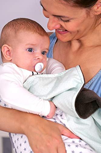 ULLENBOOM® Babybettdecke mit Minze G...