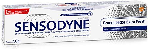 Creme Dental Branqueador Extra Fresh para Dentes Sensíveis, Sensodyne, 50g