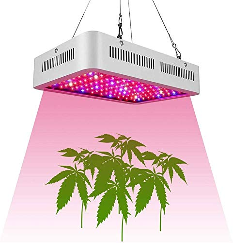 SanyaoDU Led-plantengroeilamp, dubbele chip, volspectrum, indoor plant kweeklamp met UV-infrarood lamp voor hydrocultuur bloemen (1000 W) van de plantengroei kiemen in de kas